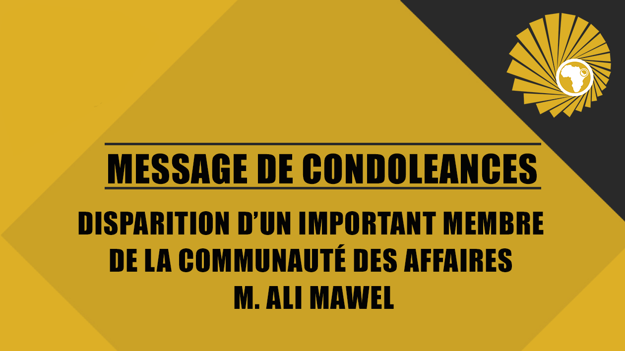 MESSAGE DE CONDOLEANCES